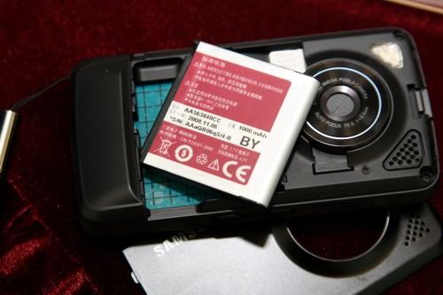 電池容量為 1,000mAh,以非 Windows Mobile 機來說,已算頗高的了,用上兩日應不成問題。