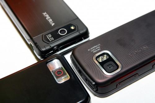 至於手機像素方面,i908 高達 500 萬,贏盡 X1 及 5800 XpressMusic 的 320 萬,但 5800 擁有蔡司名廠鏡,感覺質素又比 X1 高一點。