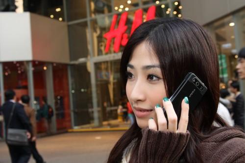 Leanne 使用 Xperia X1 通話實況。