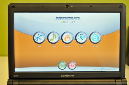 Lenovo 全新的《Quick Start》介面,由開機至「使用」只需數秒。