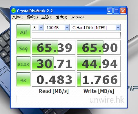 《CrystalDiskMark 2.2》