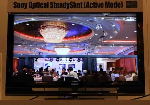 Sony XR500 啟動光學防震系統後的攝錄實際情況。