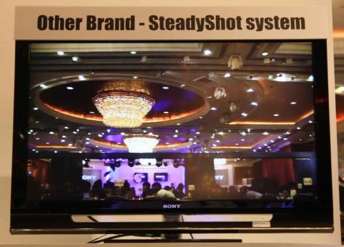 一般內建 SteadyShot 系統的攝錄機品牌實際攝錄情況