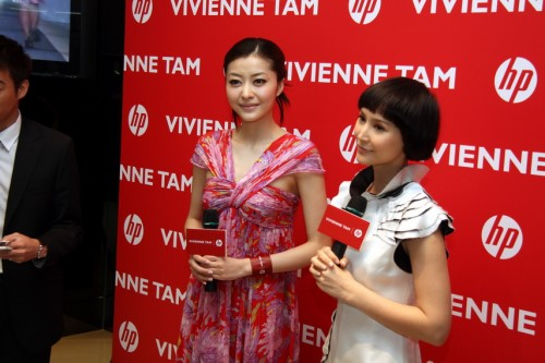 名模熊黛林及 Amanda S.亦有到場,從女性角度分享如購買 netbook 時會注重的元素。
