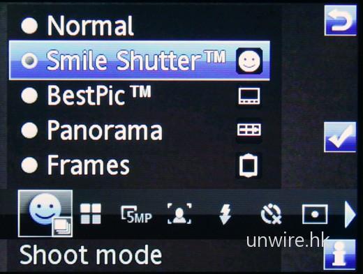C903 是首批配備一笑即拍功能的手機,拍攝小童、甚至嬰兒照片便最為合適。
