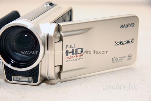 FH1 支援全高清 1,080p 格式 60fps 影片拍攝,質素可與旗艦機款 VPC-HD2000 媲美。