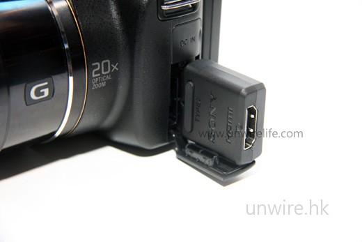 插上專用轉接頭,便可以使用 HDMI 接駁線,將高清影像無失真輸出至外置顯示器播放。