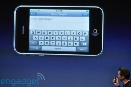 終於可橫向編寫短訊或電郵。