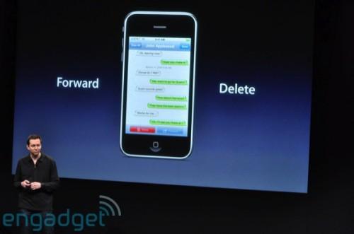 亦可隨時 forward 或 delete 指定 SMS 短訊。