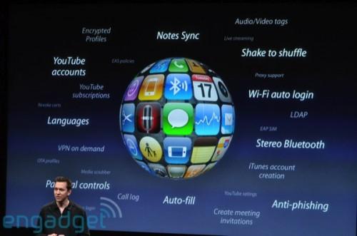 還有新功能包括:Notes 同步、立體聲藍牙(A2DP)功能(耶!終於可以無線聽歌了!)、Wi-Fi 自動登入、防釣魚網站功能、自動填寫表格、家長控制介面、YouTube 瀏覽、一搖隨機播放歌曲等逾百種。