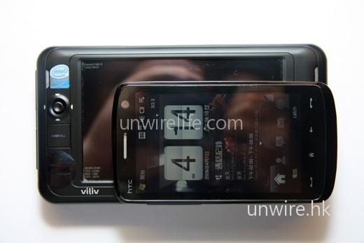 與 HTC Touch HD 比較,機身大細也沒有後者的一倍。