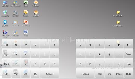 內建虛擬鍵盤,自然能補未有內建鍵盤的不足。代理表示稍後更會推出中文化鍵盤及手寫輸入,用家屆時下載安裝便可使用。