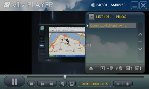 內建《Viliv Player》視頻播放軟件。