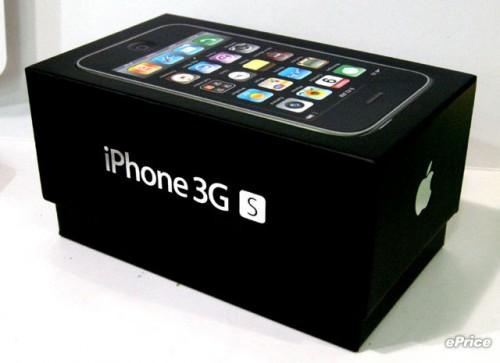 可見包裝與 iPhone 3G 一模一樣,只是多了個 S 字,代表系統運作快了。