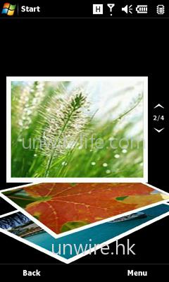 相片瀏覽介面也加入了動畫功能,用家以手指向上或下擦過,便可替換瀏覽相片,而且相片亦會以飄揚形式更換,雙擊更可放大細看。