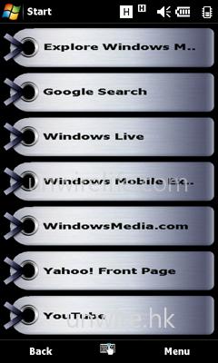 瀏覽 Bookmark,方便用家更快捷連線到常到網站。