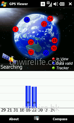 內建 GPS Viewer,方便用家找尋 GPS 衛星感應情況,以及用家所在位置的坐標。