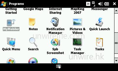 手機預載了桌面控制手機程式「MyMobiler」。