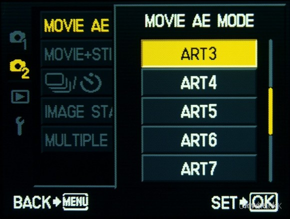 除了影相時可利用Art Filter拍攝,拍片亦一樣得。