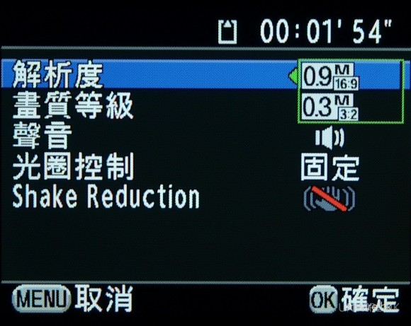K-x加入了720p高清短片拍攝。