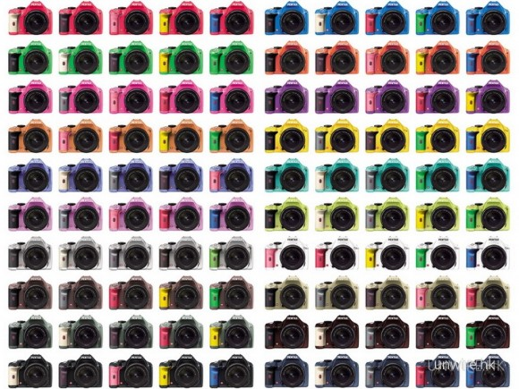 20種機身顏色跟5種手柄顏色,可組合上100種配搭機的可能,但只在日本,香港用家無福消受。