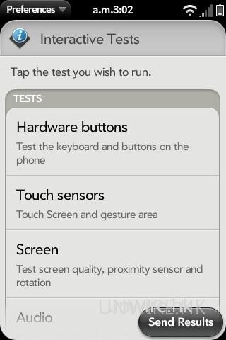 除了上一張圖的簡易全自動測試外,亦可按需要進行個別功能手動測試。