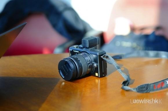 當日試機焦點之一:Panasonic LUMIX GF-1。