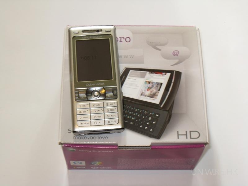 K800i on Vivaz Pro box