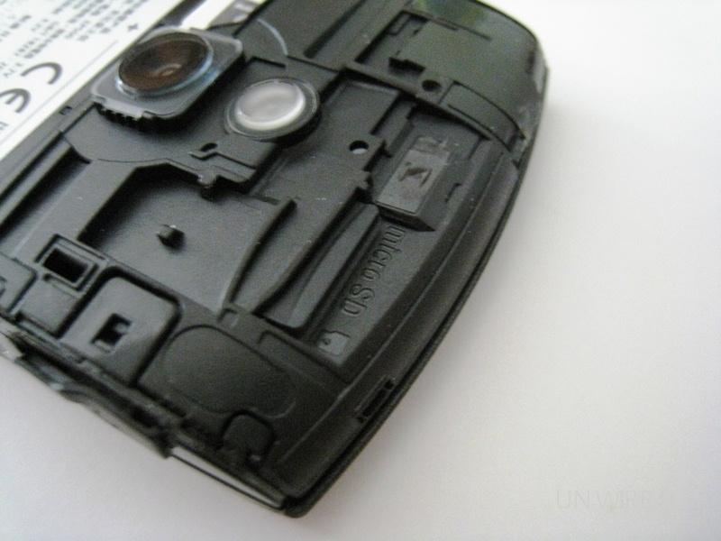 Vivaz Pro microSD slot
