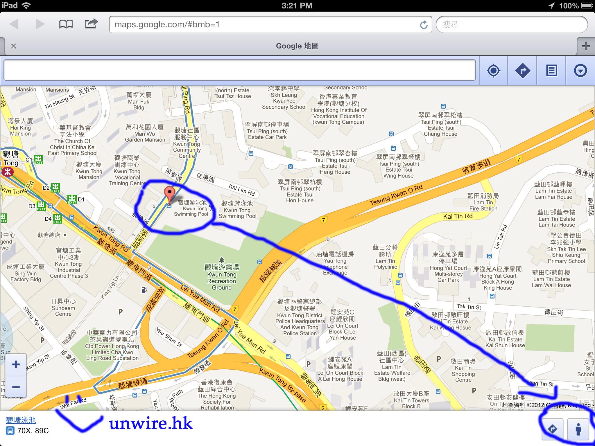 google map 網頁 版