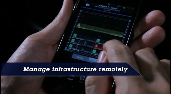 透過手機應用程式就可以遙距監測與控制 Flex System,節省系統管理員不少時間。