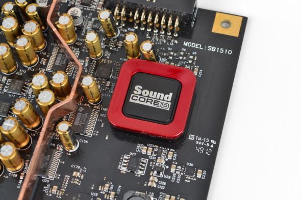 Creative 原裝卡均為 Sound Core3D 晶片表面加裝紅色塑製外殼。