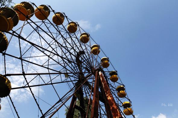 攝於普里皮亞季內,如果你有看過有關切爾諾貝爾的相片,這個摩天輪應該不會覺得陌生了。