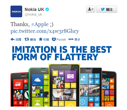 Twitter - nokia_uk- Thanks, #Apple ;) ...
