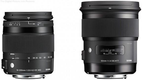 Sigma-18-200mm-F3.5-6.3-DC-Macro-OS-HSM-Contemporary-Lens-and-50mm-F1.4-DG-HSM-Art-Lens-575x327