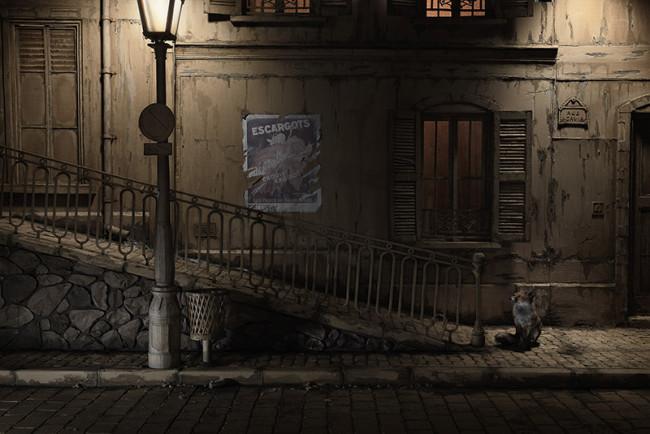 用紙板拼合的城市光景