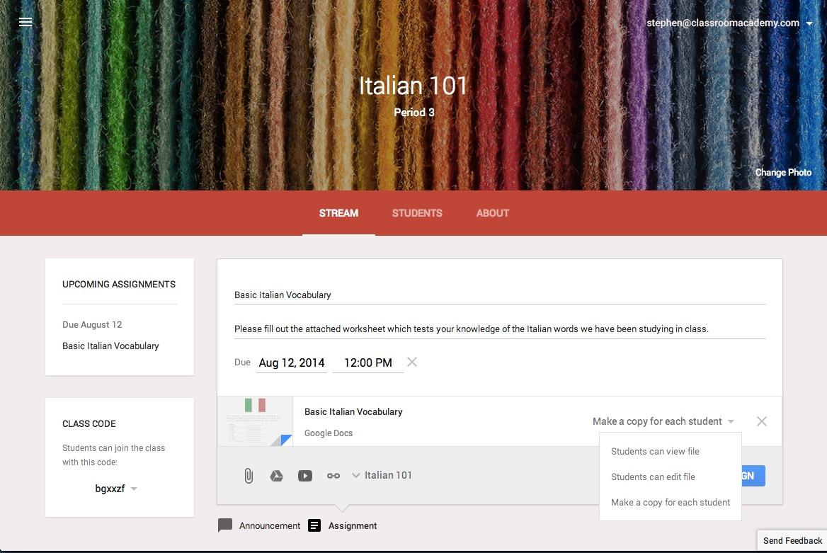 支援中文 Google Classroom 教育平台正式開放