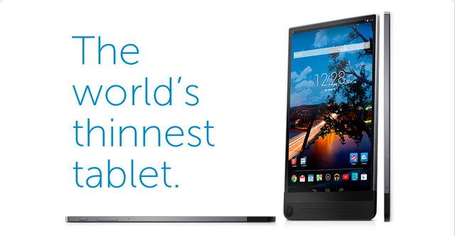 全球最薄平板 Dell Venue 8 下月上市