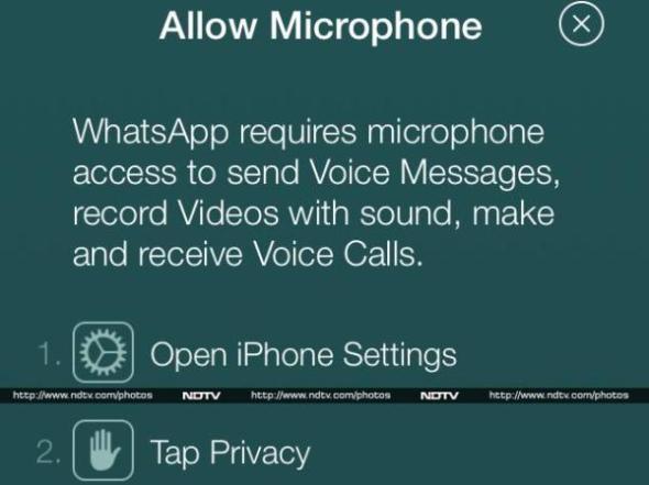 彈出選單中清楚顯示將會有語音通話(Voice Calls)功能