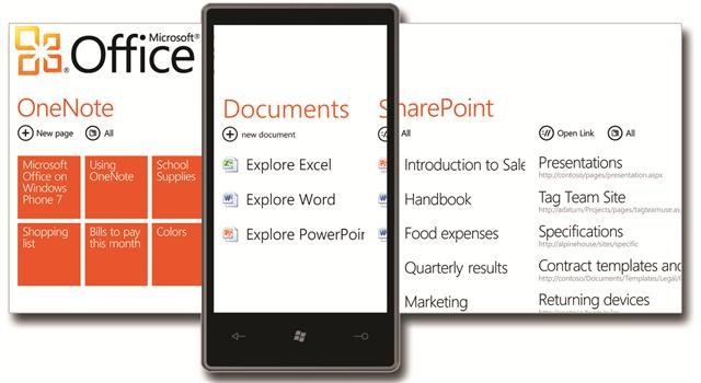 Windows Phone 7 - Office Hub10052014