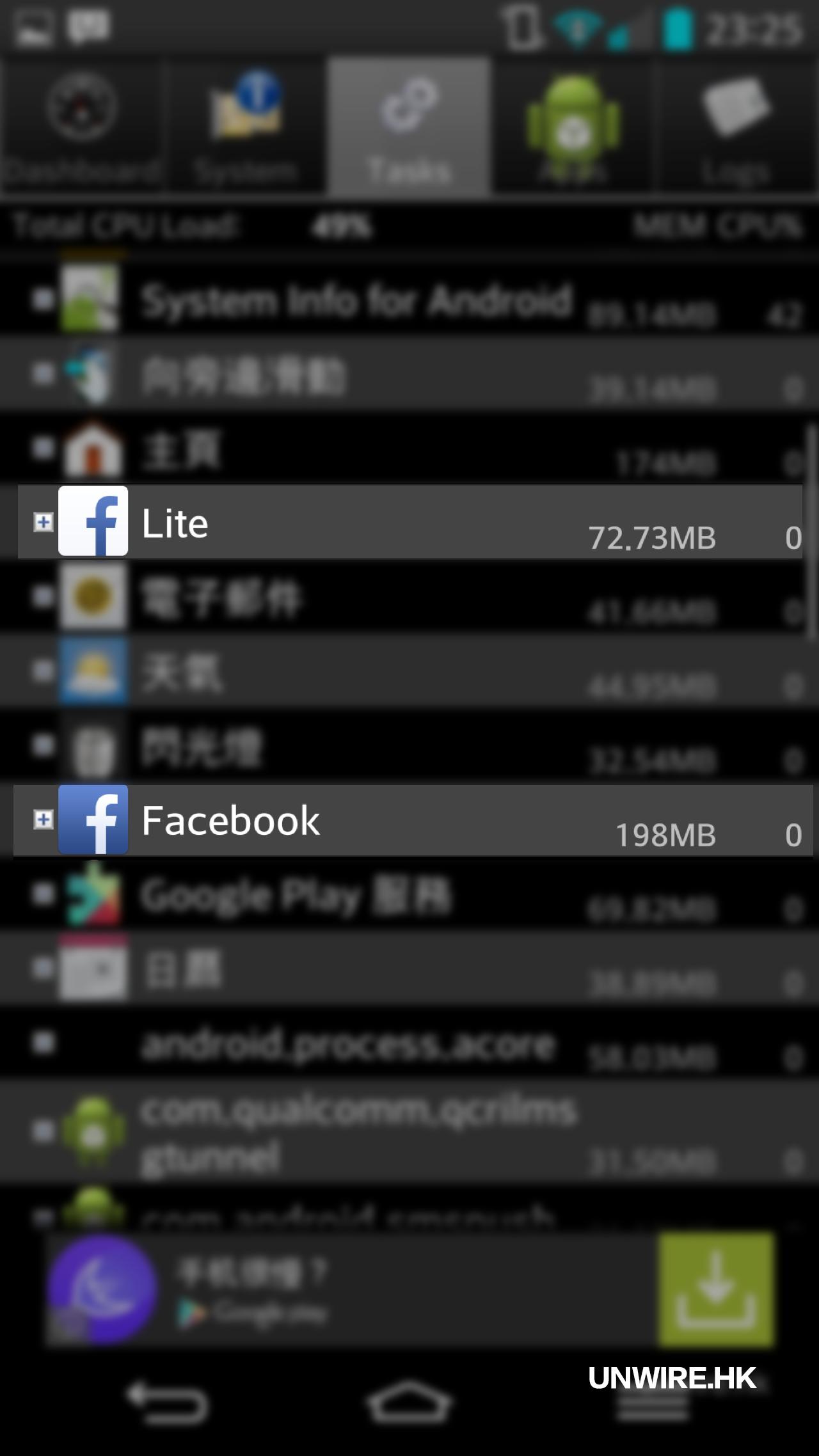 電話慳超多DATA ! Facebook Lite 版速試  香港UNWIRE HK 玩生活