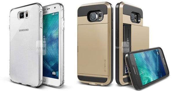 早前流出的 Galaxy S6  保護殼,留意後置鏡頭凸起的幅度不一