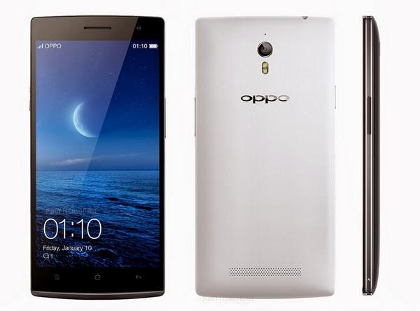 正面看 Oppo Find 7 的外型與 OnePlus One 十分相似