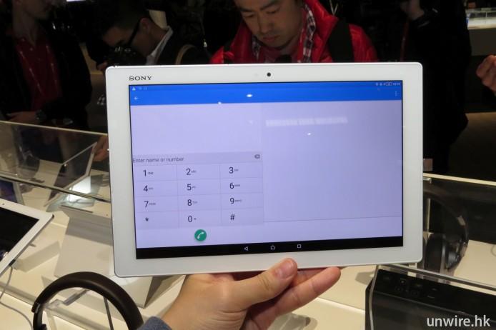 值得一提的是,Z4 Tablet 亦支援通話功能。