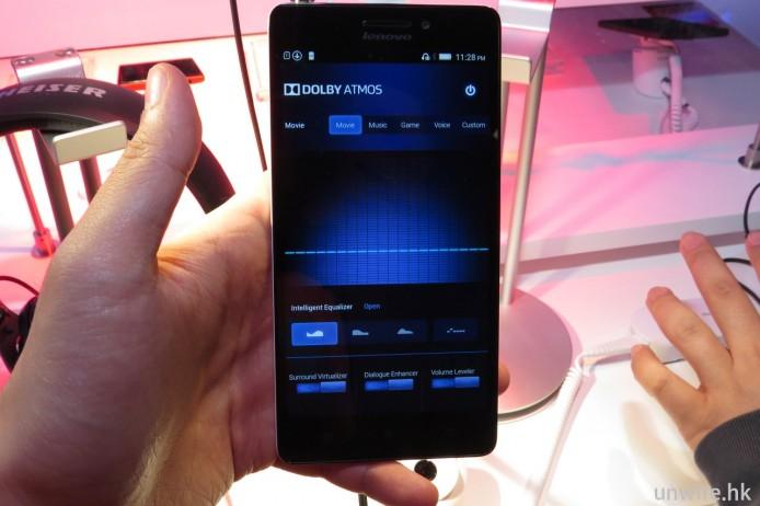A7000 是首部預載 Dolby Atmos 全景聲音效的手機,不過效果只屬一般。