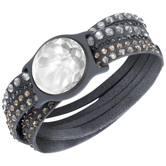 Swarovski Shine Slake Bracelet, dark grey