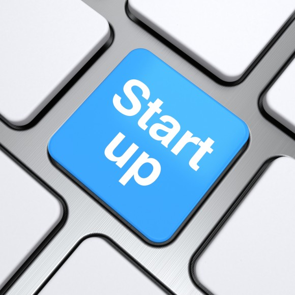 start-up-text-on-a-button