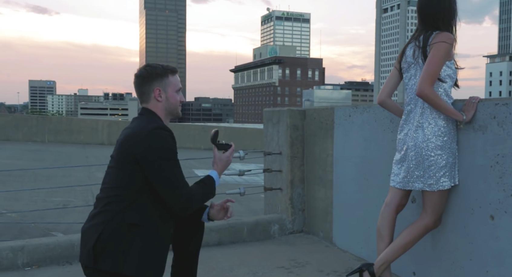 幫男朋友拍電影,最後竟然是求婚