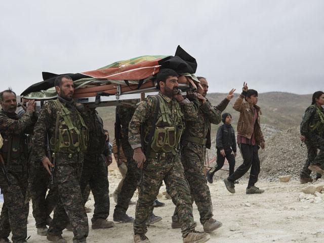 Yezidi-Funeral-Shingal-Resistance-Units-YBS-Sinjar-Mountain-Iraq