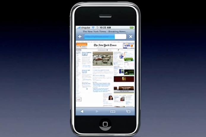 桌面版的 New York Times 竟可在一個小小手機上流暢瀏覽,在當時的手機是不可能的事